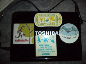 Netbook with stickers